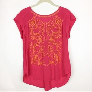 Anthropologie Tops - Anthropologie Sun Stitched Shell Embroidered Top